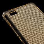 Diamonds gelový obal na Huawei P8 Lite - zlatý - 4/5