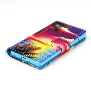 Picture PU kožené puzdro na Huawei P8 Lite - plážová scenéria - 4