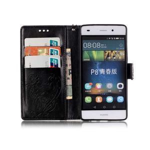 Magicfly PU kožené puzdro na Huawei P8 Lite - čierne - 4