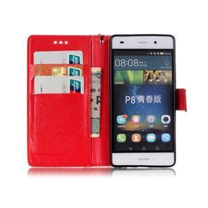 Magicfly PU kožené pouzdro na Huawei P8 Lite - červené - 4