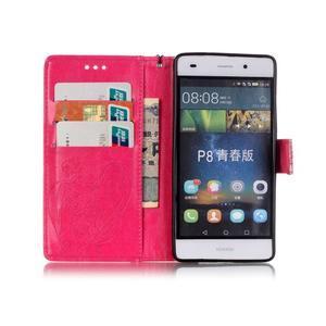 Magicfly PU kožené pouzdro na Huawei P8 Lite - rose - 4