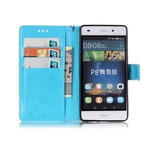 Magicfly PU kožené pouzdro na Huawei P8 Lite - modré - 4