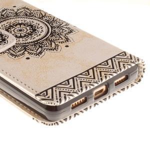 Mandala PU kožené puzdro na mobil Huawei P8 Lite - béžové - 4