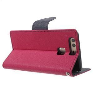 Diary PU kožené pouzdro na mobil Huawei P9 - rose - 4