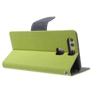 Diary PU kožené pouzdro na mobil Huawei P9 - zelené - 4