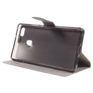 Horse PU kožené pouzdro na mobil Huawei P9 Lite - bílé - 4
