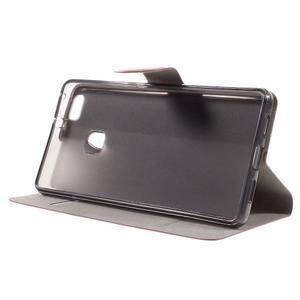 Horse PU kožené puzdro na mobil Huawei P9 Lite - rose - 4