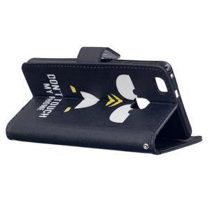 Peněženkové PU kožené pouzdro na Huawei P9 Lite - nešahej na můj telefon - 4