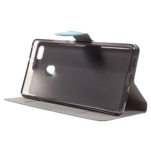 Horse PU kožené pouzdro na mobil Huawei P9 Lite - modré - 4
