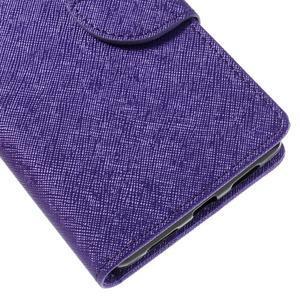 Easy peňaženkové puzdro na mobil Huawei P9 Lite - fialové - 4