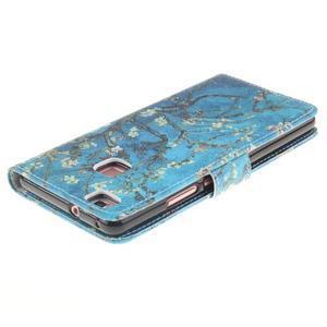 Floaty peňaženkové puzdro na mobil Huawei P9 Lite - kvitnúci strom - 4