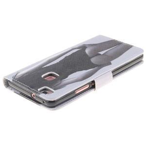 Floaty peněženkové pouzdro na mobil Huawei P9 Lite - sexy dívka - 4