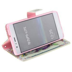 Floaty peněženkové pouzdro na mobil Huawei P9 Lite - sovička - 4