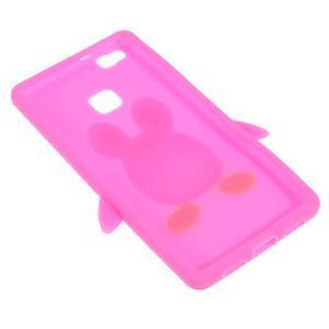 Silikonový obal na mobil Huawei P9 Lite - rose - 4