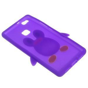 Silikonový obal na mobil Huawei P9 Lite - fialový - 4