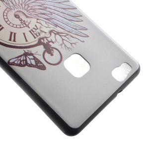 Softy gelový obal na mobil Huawei P9 Lite - antické hodiny - 4
