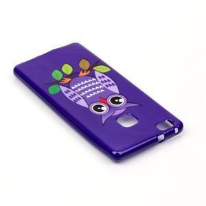 Emotive gelový obal na mobil Huawei P9 Lite - fialová sova - 4