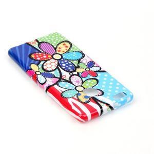 Emotive gelový obal na mobil Huawei P9 Lite - barevné květiny - 4