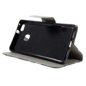 Richi PU kožené puzdro na Huawei P9 Lite - kamufláž - 4