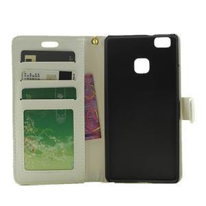 Croco peněženkové pouzdro na mobil Huawei P9 Lite - bílé - 4