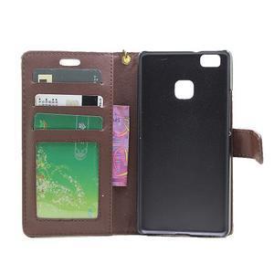 Croco peněženkové pouzdro na mobil Huawei P9 Lite - hnedé - 4