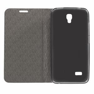 Lines knížkové pouzdro na Huawei Y5 a Y560 - tmavěmodré - 4