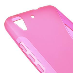 S-line gelový obal na mobil Huawei Y6 - rose - 4