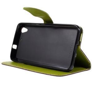 Leaf PU kožené pouzdro na mobil Huawei Y6 - hnědé - 4