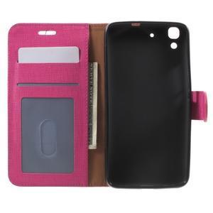 Clothy PU kožené pouzdro na Huawei Y6 - rose - 4