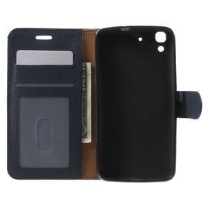 Clothy PU kožené pouzdro na Huawei Y6 - tmavěmodré - 4