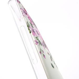 Softy gelový obal na mobil Huawei Y6 - květiny - 4