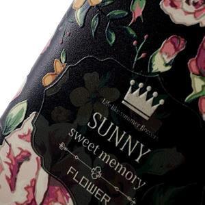 Softy gelový obal na mobil Huawei Y6 - květina na černém pozadí - 4