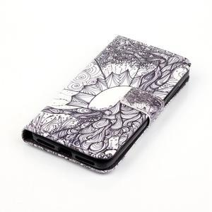 Knížkové pouzdro na mobil Huawei Y6 Pro - kresba - 4
