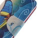 Emotive peňaženkové puzdro na mobil Huawei Y6 Pro - modrý motýľ - 4/7