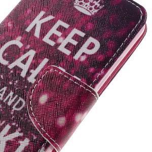 Emotive peňaženkové puzdro na mobil Huawei Y6 Pro - Keep Calm - 4
