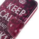 Emotive peňaženkové puzdro na mobil Huawei Y6 Pro - Keep Calm - 4/7