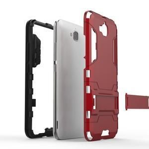 Outdoor odolný obal na mobil Huawei Y6 Pro - stříbrný - 4