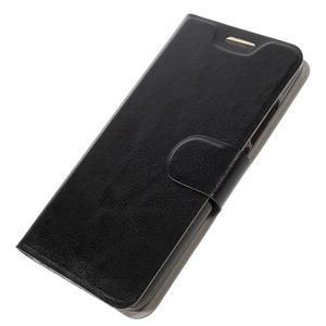 Horse PU kožené peněžekové pouzdro na Huawei Y6 Pro - černé - 4