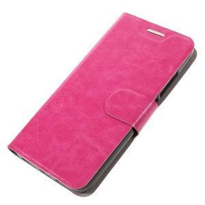 Horse PU kožené peňažekové puzdro na Huawei Y6 Pro - rose - 4