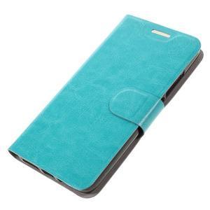 Horse PU kožené peňažekové puzdro na Huawei Y6 Pro - modré - 4