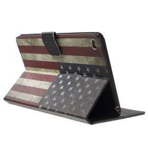 Štýlové puzdro pre iPad mini 4 - US vlajka - 4