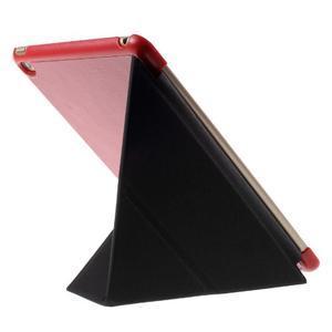 Origami polohovateľné puzdro pre iPad mini 4 - červené - 4