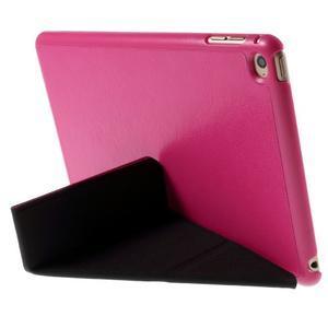Origami polohovateľné puzdro pre iPad mini 4 - rose - 4