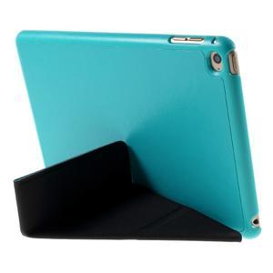 Origami polohovateľné puzdro pre iPad mini 4 - svetlomodré - 4