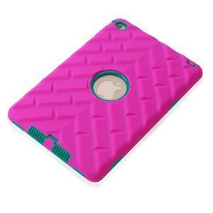Vysoce odolný silikonový obal na tablet iPad mini 4 - rose/zelený - 4