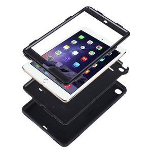 Vysoce odolný silikónový obal pre tablet iPad mini 4 - oranžový/sivý - 4