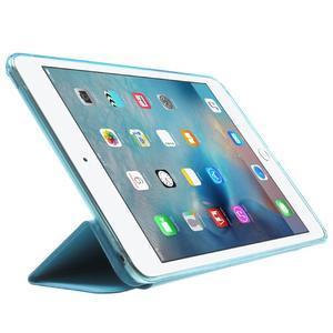 Trifold trojpolohový puzdro pre tablet iPad mini 4 - modré - 4