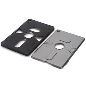 Outdoor dvoudílný gélový/plastový obal pre iPad mini 4 - strieborný - 4
