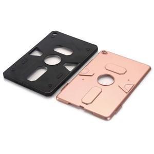 Outdoor dvoudílný gélový/plastový obal pre iPad mini 4 - ružovozlatý - 4