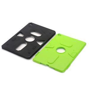 Outdoor dvoudílný gélový/plastový obal pre iPad mini 4 - zelený - 4